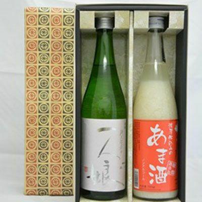 一人娘 純米超辛口・あま酒セット(720ml×2本)